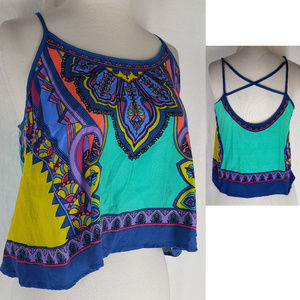 Flying Tomato strappy back detail top
